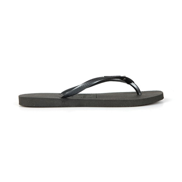 Havaianas Womens Black Slim Crystal Glamour Flip Flop main image
