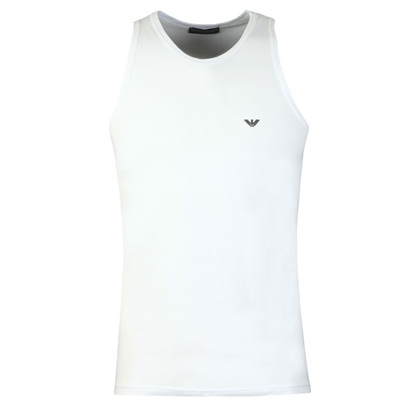 Emporio Armani Mens White Stretch Cotton Vest