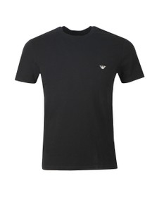 Emporio Armani Mens Black Stretch Crew Neck T Shirt