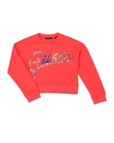 Guess Girls Red Sequin Logo Sweatshirt