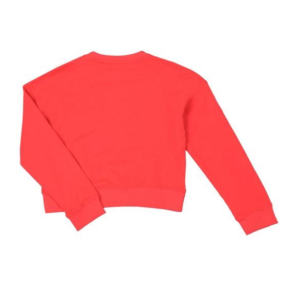 Guess Girls Red Sequin Logo Sweatshirt