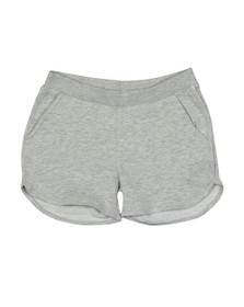 Guess Girls Grey Glitter Triangle Logo Sweat Short