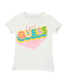 Guess Girls White Love Guess T-Shirt