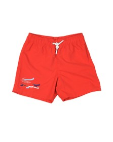 Lacoste Boys Red Boys MJ3303 Swim Short