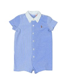 Polo Ralph Lauren Boys Blue Stripe Detail Short All In One