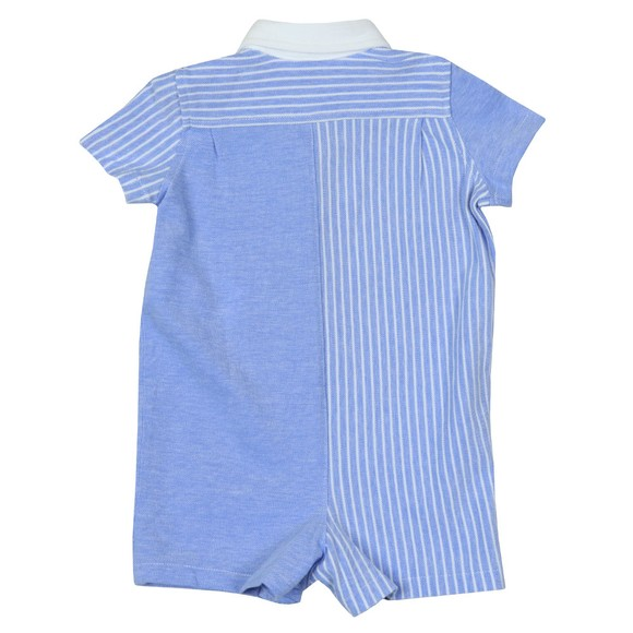 Polo Ralph Lauren Boys Blue Stripe Detail Short All In One main image