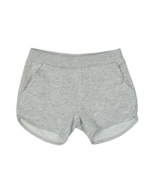 Guess Girls Grey/Baby Pink Glitter Triangle Logo Sweat Short