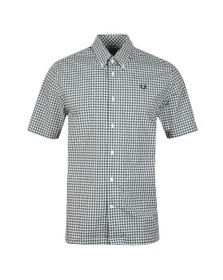 Fred Perry Mens Blue S/S Two Colour Gingham Shirt