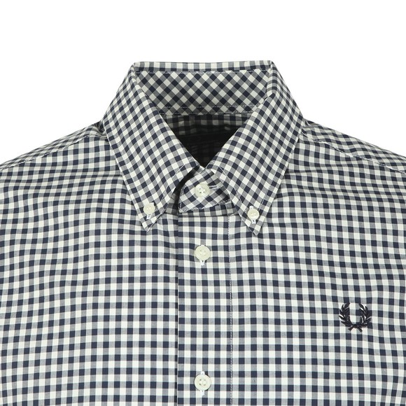 Fred Perry Mens Blue S/S Two Colour Gingham Shirt main image