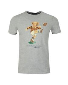 Polo Ralph Lauren Mens Grey Football Bear T Shirt