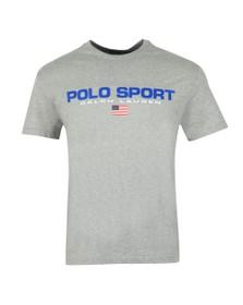 Polo Ralph Lauren Sport Mens Grey Logo T Shirt
