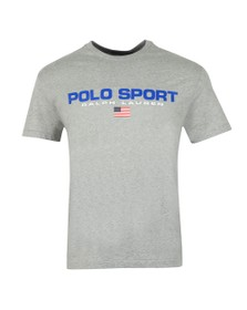Polo Ralph Lauren Mens Grey Polo Sport Logo T Shirt