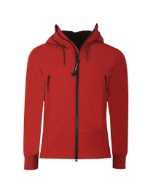 C.P. Company Mens Red Soft Shell  Goggle Jacket