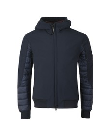 C.P. Company Mens Blue Puffer Mix Shell Jacket