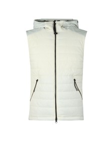 C.P. Company Mens Off-White Hooded Goggle Gilet
