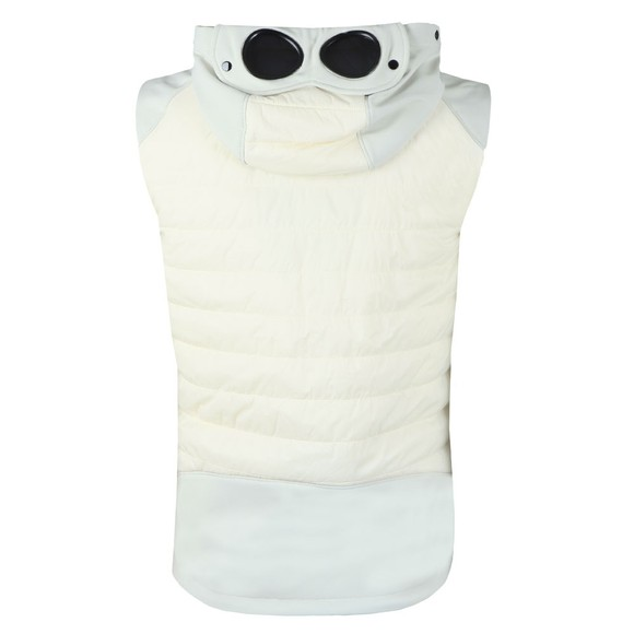 C.P. Company Mens Off-White Hooded Goggle Gilet main image