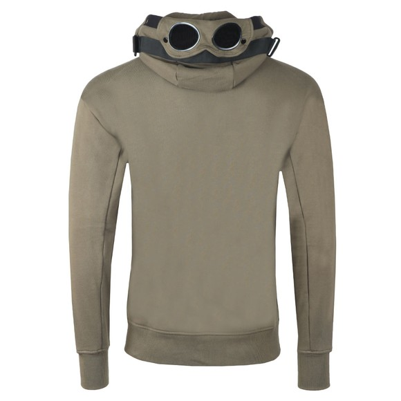 C.P. Company Mens Green Tape Shoulder Goggle Hoody main image