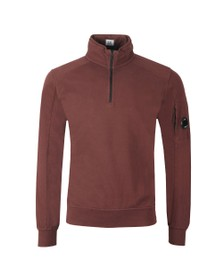 C.P. Company Mens Brown Half Zip Sweat