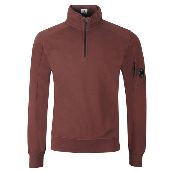 C.P. Company Mens Brown Half Zip Sweat main image