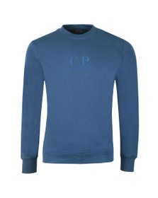C.P. Company Mens Blue Chest Logo Sweatshirt