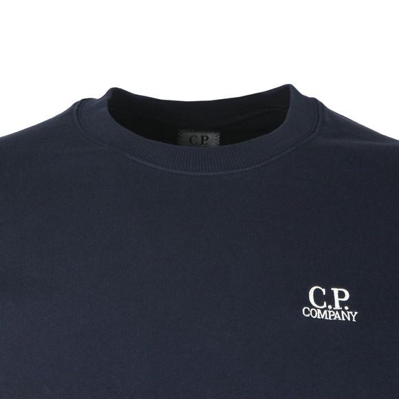 C.P. Company Mens Blue Embroidered Diagonal Fleece Sweatshirt main image