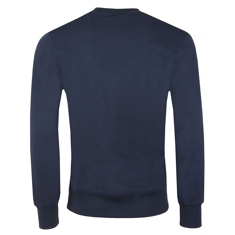 Embroidered Diagonal Fleece Sweatshirt main image