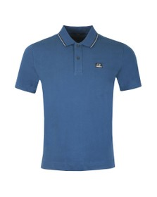 C.P. Company Mens Blue Tipped Polo Shirt