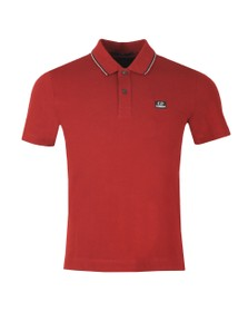 C.P. Company Mens Red Tipped Polo Shirt
