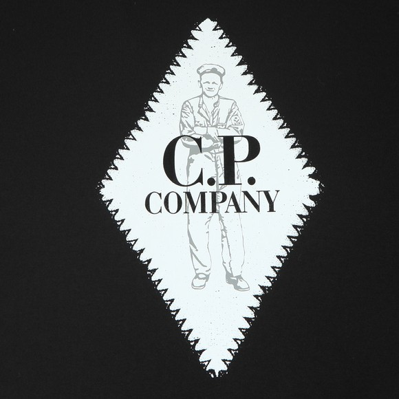 C.P. Company Mens Black Diamond Logo T Shirt main image