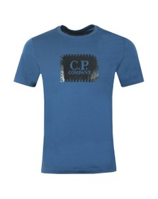 C.P. Company Mens Blue Stamp Logo T Shirt