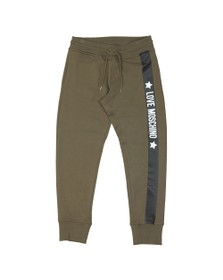 Love Moschino Mens Green Side Logo Sweatpant