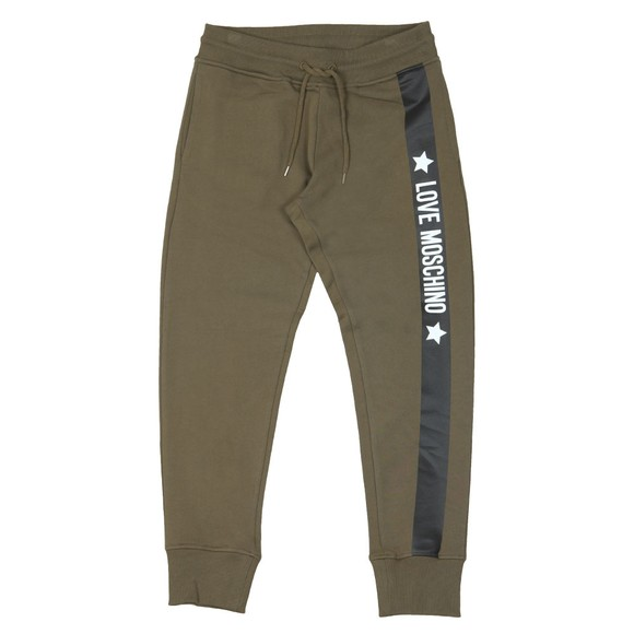 Love Moschino Mens Green Side Logo Sweatpant main image