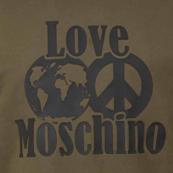 Love Moschino Mens Green Planet Love Overhead Hoody