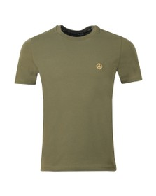 Love Moschino Mens Green Metal Logo T Shirt