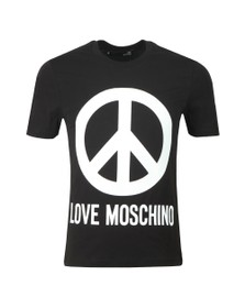 Love Moschino Mens Black Large Logo T Shirt