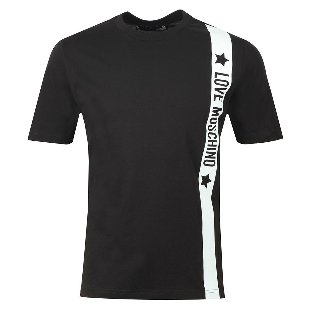 3c311ce238433 Love Moschino Side Logo T Shirt | Oxygen Clothing