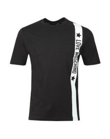 Love Moschino Mens Black Side Logo T Shirt
