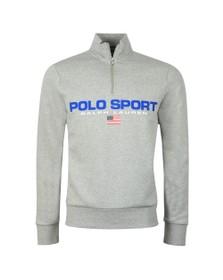 Polo Ralph Lauren Sport Mens Grey Logo Half Zip Sweat