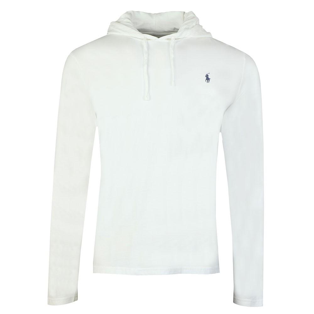 Mens Long Hooded T Shirt Sleeve White w8nmN0
