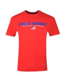 Polo Ralph Lauren Sport Mens Red Logo T Shirt
