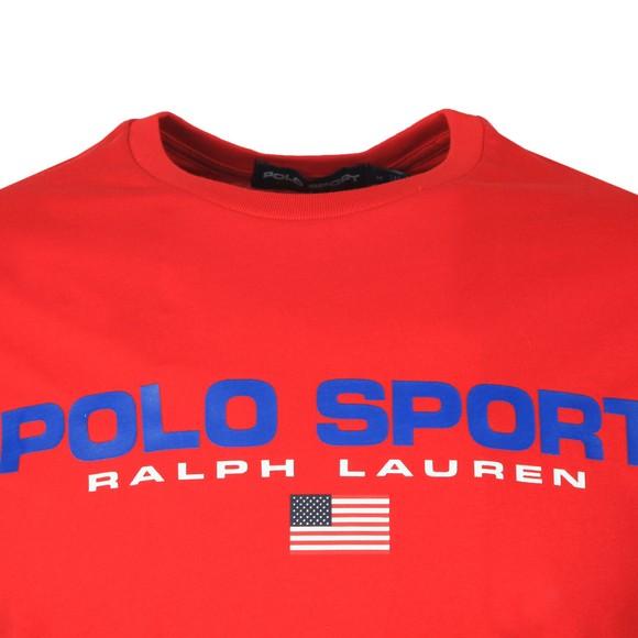 Polo Sport Ralph Lauren Mens Red Logo T Shirt