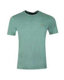 Polo Ralph Lauren Mens Pine Heather Custom Slim Fit Pima Cotton T Shirt