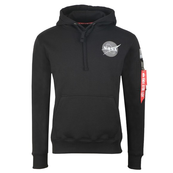 Alpha Industries Mens Black Space Shuttle Hoody