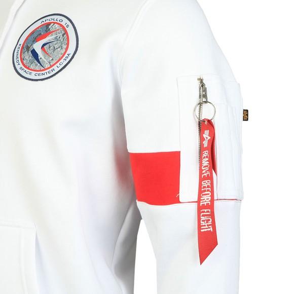 Alpha Industries Mens White Apollo 15 Hoody