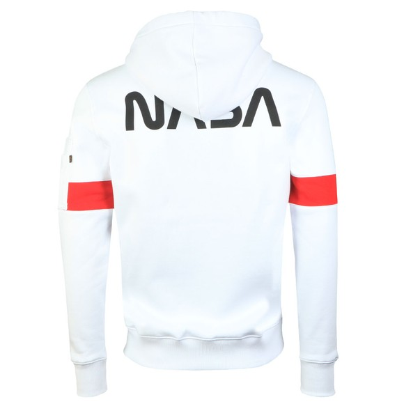 Alpha Industries Mens White Apollo 15 Hoody main image