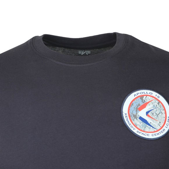 Alpha Industries Mens Blue Apollo 15 T-Shirt main image