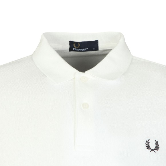 Fred Perry Mens White Bold Cuff Polo main image
