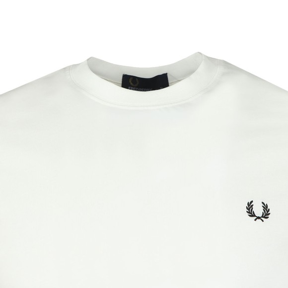 Fred Perry Mens Off-White Stripe Cuff Tee main image