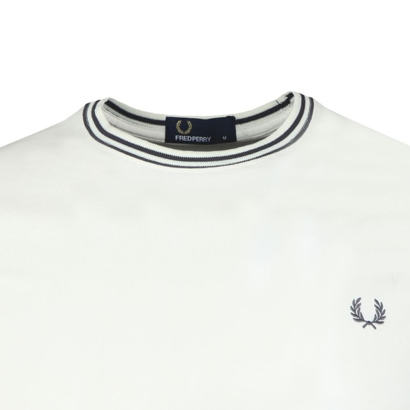 Fred Perry Mens White Twin Tipped T-shirt main image