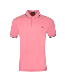 Fred Perry Mens Pink Twin Tipped Polo Shirt